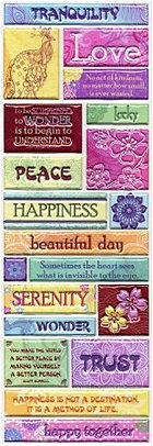 Puffy Serenity Words Stickers
