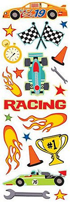 Racing Cars Shimmer And Shine Stickers