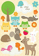 Woodland Whimsy Epoxy Stickers