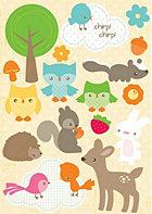 Woodland Whimsy Epoxy Stickers