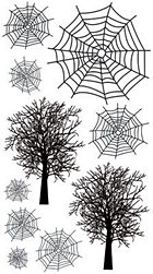 Spider Webs Rub-Ons