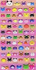 Puffy Animal Faces Kawaii Stickers