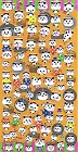 Puffy Panda Poses Kawaii Stickers
