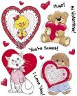 Valentines Day Characters Stickers