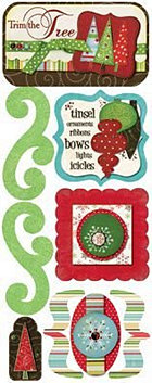 Trim The Christmas Tree Stickers