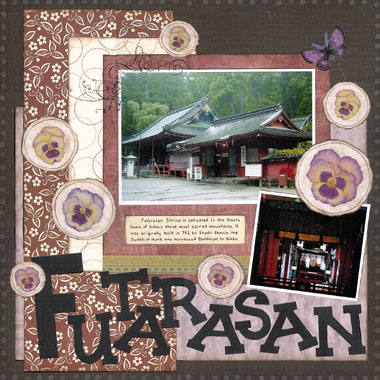 Pansy Scrapbooking Ideas