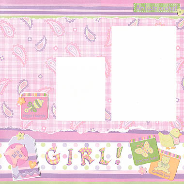 Baby Girl Scrapbooking Stickers