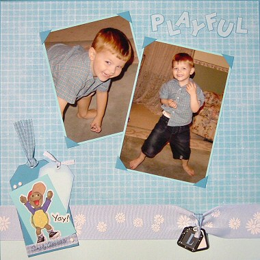 Boy Scrapbooking Tags
