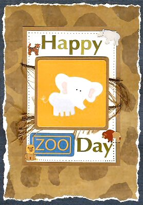 Zoo Card Making Ideas