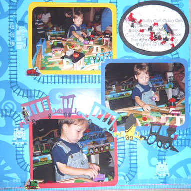 Train Scrapbooking Ideas