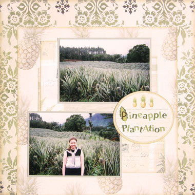 Tropical Vacation Scrapbooking Ideas