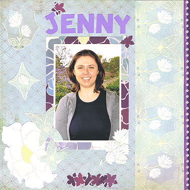 She created this scrapbooking layout using Basic Grey Wist Garden Paper Pack