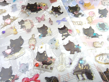 San-X Kutusita Nyanko Stickers
