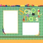 School Days Scrapbooking Idea