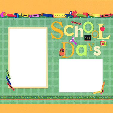 School Days Scrapbooking Idea