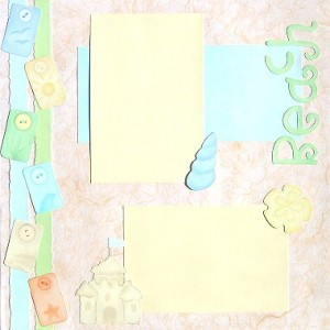 Day At The Beach Scrapbooking Idea