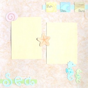 Day At The Beach Scrapbooking Idea 2