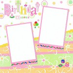 Birthday Wishes Scrapbooking Idea